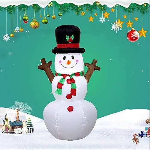 QTRT Lumières LED bonhomme de neige gonflable, Décoration de Noël, bonhomme de neige avec des cordes Airblown ventilateur et dancrage, danimation Yard Lawn Blow Up Party Décor, intérieur et extérieu