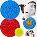 2 Pack Dog Lick Mat with Scrub Pad - Lick Mat for Dogs with Strong Suction - A Challenging Dog Lick Pad for Large and Small Dogs - Our Dog Licking Mat is a Lick Bowl Helpful for Bathing
