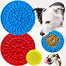 BILLIE BEAN 2 Pack Dog Lick Mat with Scrub Pad - Lick Mat for Dogs with Strong Suction - A Challenging Dog Lick Pad for Large and Small Dogs - Our Dog Licking Mat is a Lick Bowl Helpful for Bathing