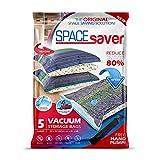 Spacesaver Lot de 5 Sacs de Rangement sous Vide avec Pompe à Main