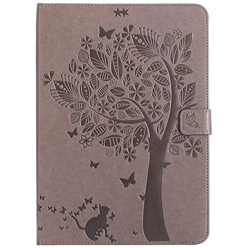GROSSARTIG For IPad 9.7 Inch 2017/2018 (5th/6th Generation)/iPad Air 2/iPad Air Tablet Case Business Horizontal Flip Waterproof Embossing Tree Pattern Premium Leather Protective Case Leather Hard Back