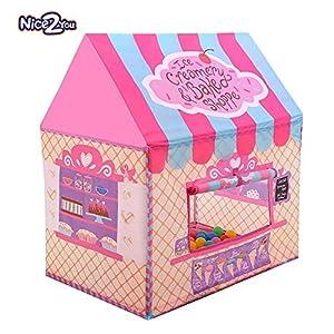 Tienda Campaña Infantil - Carpas para Niños Casa de Juegos para Niños Niñas Jugando Castillo Interior Cumpleaños al Aire Libre