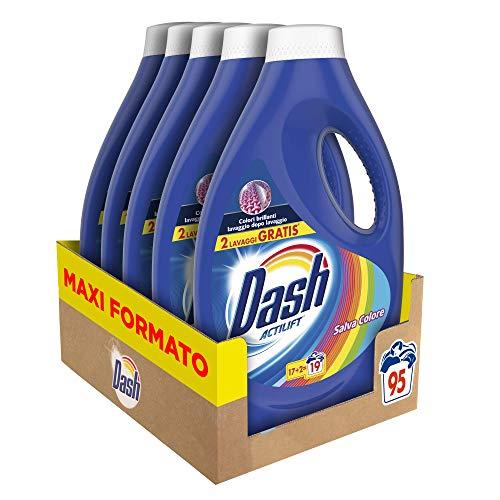 Dash Detersivo Lavatrice Liquido Colore, Formato Convenienza 95 Lavaggi, 5 Confezioni da 19 Lavaggi