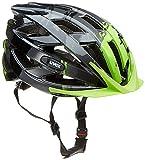 Uvex I-Vo C Casco de Ciclismo, Unisex Adulto, Negro/Verde, 56-60 cm