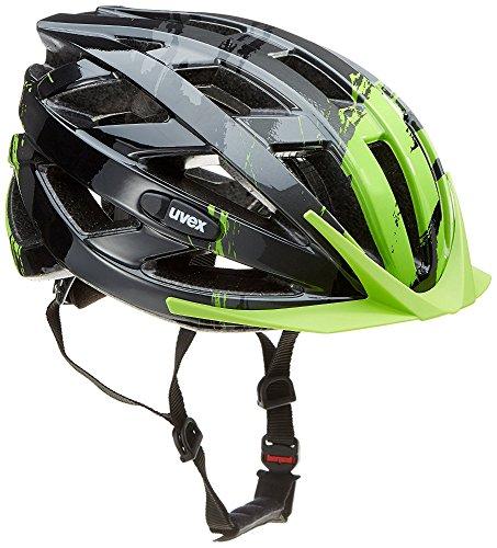 Uvex i-vo c Fahrradhelm, dark silver - green, 56-60 cm