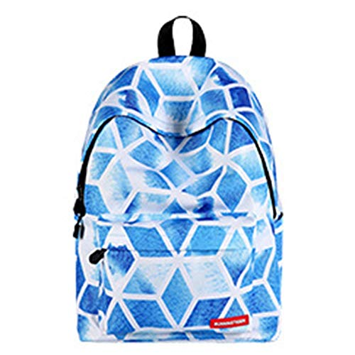 YZYZYZ Travel backpack Student Business Travel Polyester Bag Diamond Shaped Pattern Air Cushion Strap, Suitable For College Students, 14-inch Computer Interlayer, Men And Women Breathable Shoulder Bag