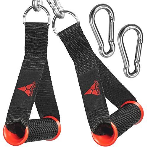 Allbingo Pro - Asas de Cable compatibles con máquinas de Cable y Bowflex, Agarre de Mano Resistente para Ejercicio con 2 mosquetones para Bandas de Resistencia Total Home Gym,...