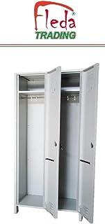GOTOTOP Armadietto spogliatoio con 6 Scomparti in Acciaio,Armadio per Ufficio,Armadietti Metallici,90x45x180 cm Grigio