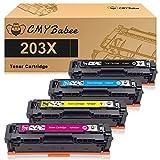 CMYBabee Compatibile Cartucce Toner per HP 203X 203A CF540X CF540A CF541X CF542X CF543X per HP Color Laserjet Pro MFP M281fdw M254nw M281fdn M254dw m280nw m281cdw M254dn (4 Pezzi)