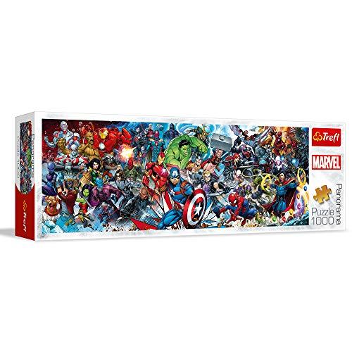Trefl- Puzzles 1000 Panorama Marvel Puzzels, Color Coloreado (29047)