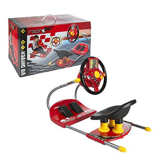 CP Toys Battery-Operated Sit On Simulated Driver with Moving Screen and Lights -