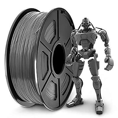 PLA+ 3D Printer Filament 1.75mm, SUNLU PLA Filament PRO, Dimensional Accuracy +/- 0.02 mm, 1 kg Spool, 1.75 PLA Plus Grey