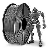 SUNLU PLA+ Filament 1.75mm for 3D Printer & 3D Pens, 1KG (2.2LBS) PLA+ 3D Printer Filament Tolerance Accuracy +/- 0.02 mm, Grey