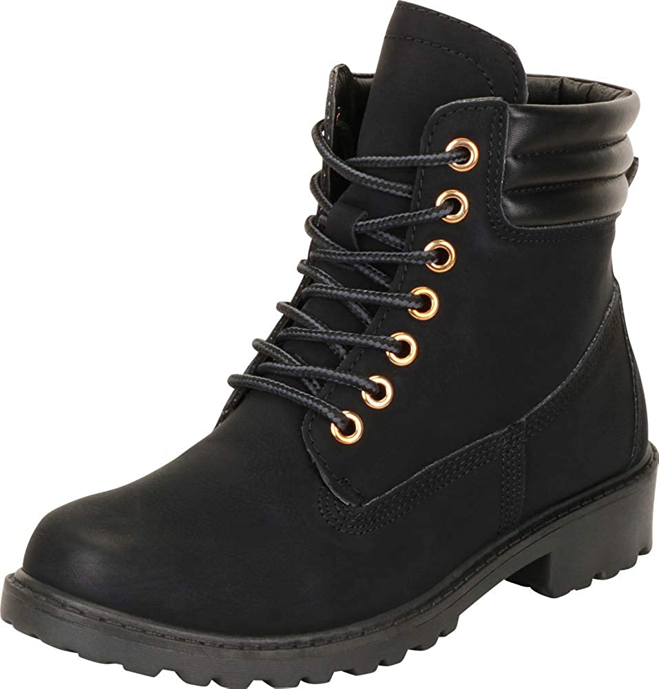 Cambridge Select Women's Round Toe Sale Special Price Regular discount Chunky Block Lug Lace-Up Sole