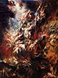The Fall of the Damned - (Artist: Peter Paul Rubens c. 1620) - Masterpiece Classic (12x18 Art Print, Wall Decor Travel Poster)