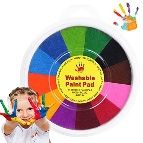 Dan&Dre Juguetes Pintar Graffiti Pintura para niños Colores Almohadilla de Tinta Sellos DIY Pintura con los Dedos Tarjeta Artesanal Hacer Que los niños aprendan educación Juguetes de Dibujo