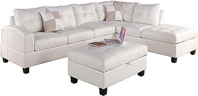 Amazon.com: The Ozark Leather Sleeper Sofa, Queen Mattress ...