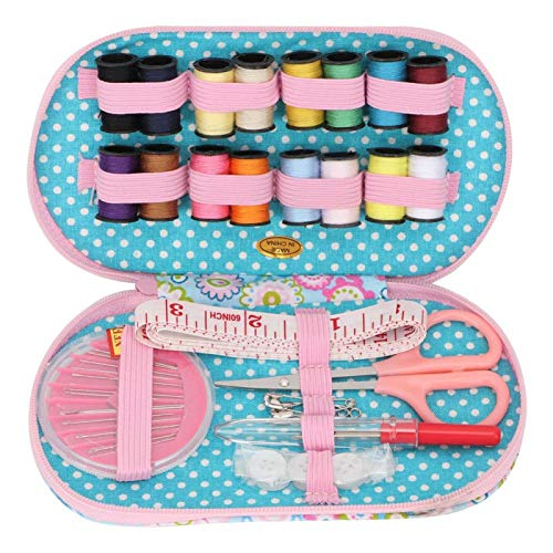 Caja de hilo de agujas Caja de hilo de coser Kit de caja de costura floral pequeña portátil para coser(Flor del sol)