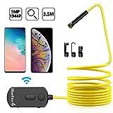 BlueFire Amélioré 90 Degrés Endoscope WiFi,1200P HD Caméra d'inspection Étanche...