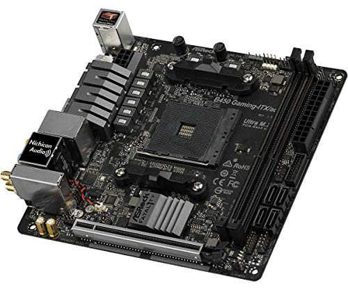 MB ASRock B450 Gaming-ITX/ac AM4 M-ITX HDMI/DP DDR4 Retail - AMD Sockel AM4 (Ryzen) - ITX, B450 Gaming-ITX/AC