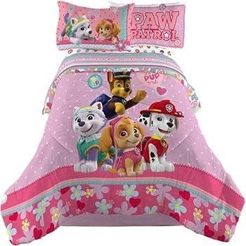 Nick Jr Paw Patrol Girl Comforter and Sheets Bedding Set  Full Size