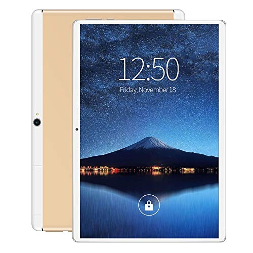 Tablet PC 10-inch 3G Call HD Screen WiFi Bluetooth Tablet PC-Universal (Color : Gold, Size : 16GB)