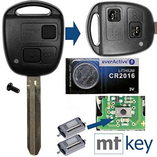 bester der welt Autoschlüssel-Funksteuerung 1x Gehäuse 2 Tasten TOY43 + 1x Tastatur + 1X Mikrotaste + 1x… 2021