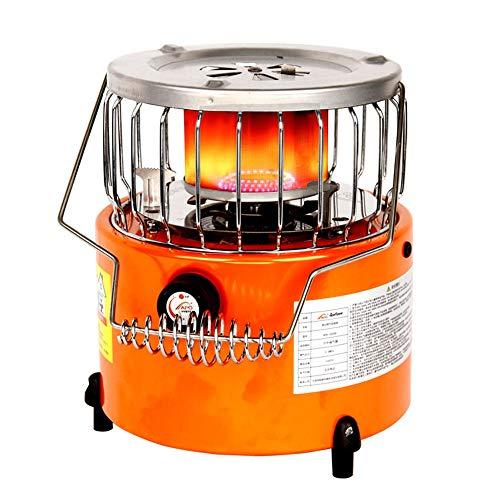 Estufa de propano, 2 en 1 portátil, estufa de camping al aire libre, estufa de camping apta para hielo, pesca, camping al aire libre, senderismo