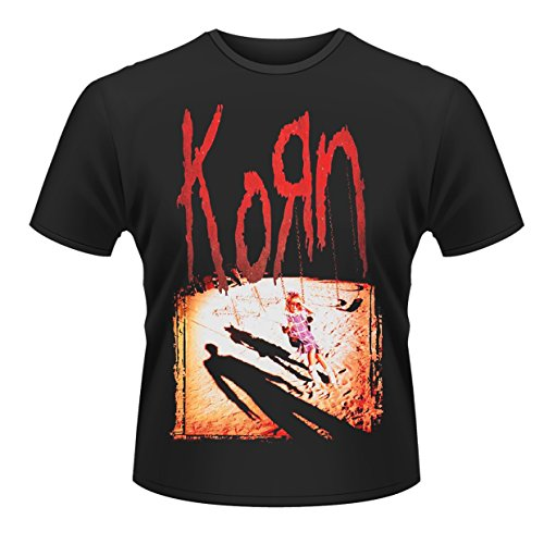 Plastic Head Herren Korn T-Shirt, Schwarz - Schwarz, Large