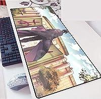 キーボードマットゲーミングXXLアニメマウスパッドナルトカラーブロッキングエッジ厚みのあるマウスパッド速度コントロールゲーマーキーボードマットの厚さ-A_800x300x30mm