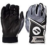 Worth Slowpitch Softball Adult Batting Glove, Black, XL