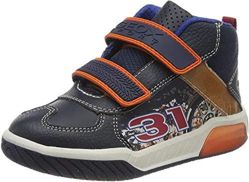 Geox Jungen J INEK BOY A Hohe Sneaker Blau (Navy/Orange C0820) 29 EU