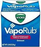 Vicks VapoRub Cough Suppressant/Topical Analgesic, Ointment 1.76 Oz / 50 Ml (Pack of 4)