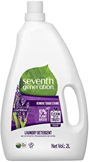 Seventh Generation Plant-based Concentrated Fabric Detergent Liquid, Fresh Lavender, 2 Litre