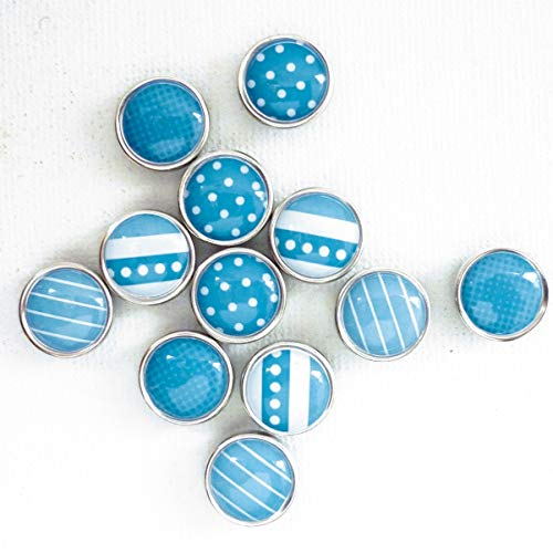 Pw International Graines créatives - 12 Mini magneti in Resina epossidica, 12 mm, Blu