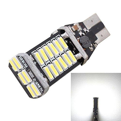 Lumières de haute qualité, mz t15 6w 30-smd 4014 6500k lumière blanche décodé sans erreur 900lm secours a feu de voiture