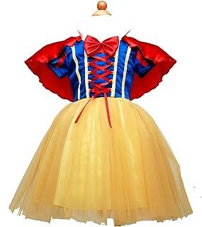 e638d1dbea81f XIAOKEAI VêTements De Performance pour Enfants Blanche Neige Costume Cosplay  Mousseline Correspondance des Couleurs Robe en