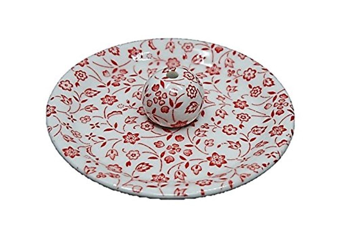 予報ハードウェアコンパクト9-20 赤小花 9cm香皿 お香立て お香たて 陶器 日本製 製造?直売品