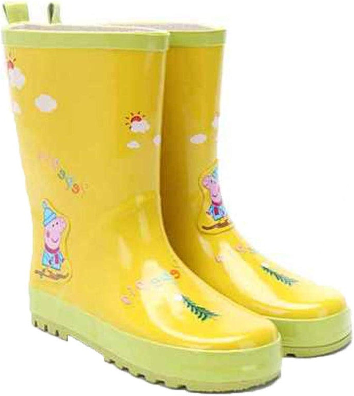 FXNN Rain Boots - Fashion Waterproof Non-Slip Men and Women Rubber shoes rain Boots