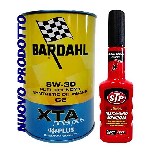 Bardahl motorolie XTA 5W30 C2 Polarplus + STP benzineadditief