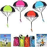 Rmeet Cometas a Mano,4 Pack Juguete Paracaídas Set Paracaída Mano Juguete de Manos Paracaidista Lanza Libremente para Niños Adultos Juegos al Aire Libre Multicolor 45CM