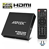 HDMI Media Player, 2 HDMI-Ausgangssplitter-Modus 1080p Full-HD Ultra-HDMI-Digital-Media-Player für -MKV/RM- HDD-USB-Laufwerke und SD-Karten