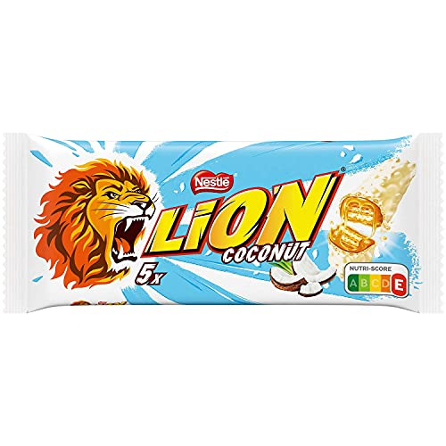 Lion al cocco coconut cioccolato bianco pacco da 5x30gr Nestlè snack prodotti americani americano cibo