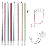 Hifot 8 Piezas Cordones para Gafas, Multicolor Trenzada Cuerda para Gafas, Retenedores de Gafas Sostenedor del Cuello para Mascarilla Correa Gafas