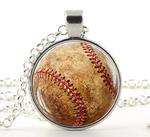 Baseball-Anhänger, Baseball-Halskette, Baseball-Schmuck, Baseball-Spieler, Team-Mom-Baseball-Geschenk, Baseball-Fan-Geschenk.
