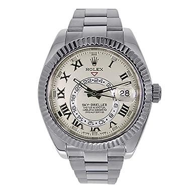 Rolex Sky Dweller Ivory Roman Dial GMT 18k White...