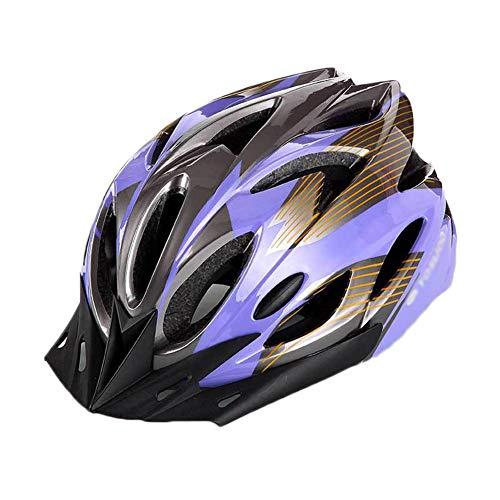 YOUCAI Fahrradhelm - Verstellbarer Skateboard Radhelm Schutzhelm Mountainbike Helm Lila Grau L