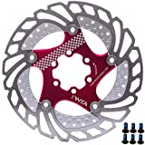 YBEKI Freno Disco Rotores Bicicleta 140mm 160mm 180mm 203mm Bicicleta Freno Disco para Bicicleta de Carretera, Bicicleta de Montaña, MTB, BMX (rojo, 180mm)