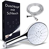 Alcachofa Ducha con Manguera 1,5 m,Dothnix Boquilla de ducha cromo que aumenta la presión Spray con 4 modos Baño de ahorro de agua