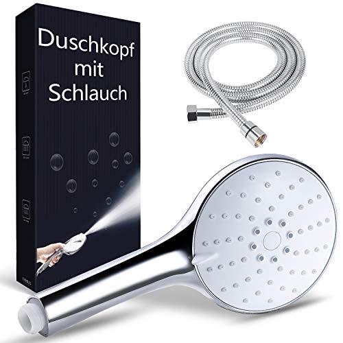 Handbrause Duschkopf mit Schlauch1.5M, Dothnix Duschbrause mit Schlauch, Wassersparender Duschkopf, Öko Duschkopf Druckerhöhend, Upgrade Aktualisierte 4-Modi universeller Duschköpfe